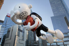 Diario de un globo Wimpy del cabrito en el desfile de Macy Fotografía de archivo