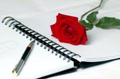 Diario del amor Fotos de archivo libres de regalías