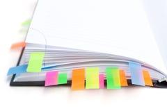 Diario del asunto con tabulaciones coloreadas Fotografía de archivo