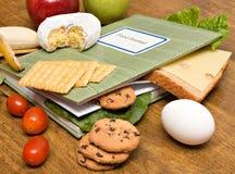 Diario del diario del alimento fotografía de archivo libre de regalías