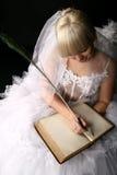 Diario della sposa immagini stock