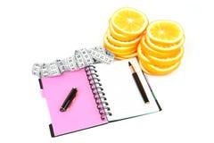 Diario di nutrizione Fotografie Stock Libere da Diritti