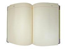 Diario en blanco Imágenes de archivo libres de regalías