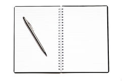 Diario en blanco Fotografía de archivo libre de regalías