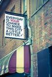 Diario es usted ocasión de hacer esta ciudad un poco mejor Fotografía de archivo