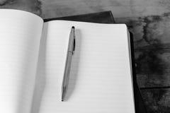 Diario a escribir Foto de archivo libre de regalías