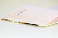 Diario querido Fotos de archivo