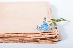 Diario viejo foto de archivo libre de regalías
