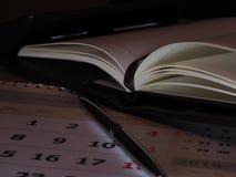 Diario y pluma Fotografía de archivo libre de regalías