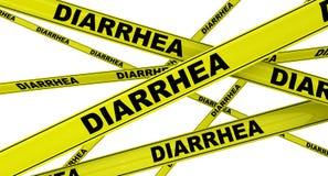 diarrea Cintas amonestadoras amarillas ilustración del vector