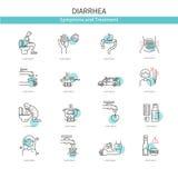 Diarrea médica de los iconos ilustración del vector