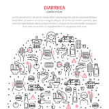 Diarrea médica del ejemplo stock de ilustración