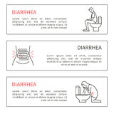 Diarrhea vector illustration. Diarrhea. Causes, symptoms and treatment. Vector artwork in a linear style Stock Photos