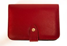 Diary 02. Red a leather-bound diary. It symbolizes the activities office weekdays management Stock Photos