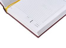 Diary with 1 date and monday. Day-book with 1 date and monday crop on white isolated Stock Photography