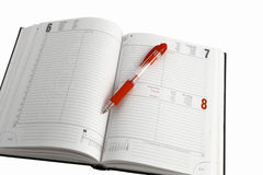 Diary. On the white background Stock Image