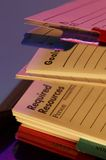 Diary. Macro picture of open writing book for planning Royalty Free Stock Image