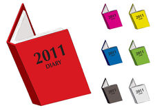 Diary 2011 Royalty Free Stock Photography