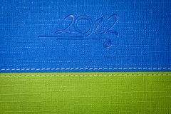 Diary. 2012 diary background, blue and green Royalty Free Stock Image