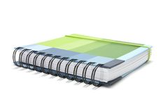 Diary. On a White Background Royalty Free Stock Photography