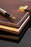 Diary. Pen on a closed diary Royalty Free Stock Image