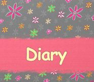 Diary album cover. Diary book cover or background vector illustration
