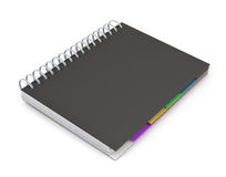 Diary with a black cover Royalty Free Stock Image