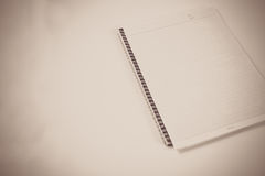 Diary. Blank diary on isolated background Stock Photography