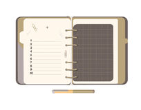 Diary with blank list. Stock Photography