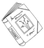 Diary book drawing Royalty Free Stock Images