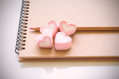 Diary book of love Stock Image