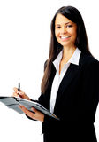 Diary business woman Royalty Free Stock Photos