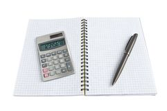 Diary and calculator Stock Image