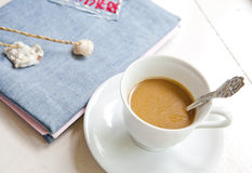 Diary and Coffee Stock Images
