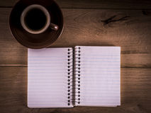Diary and Coffee Stock Photography