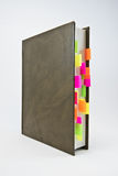 Diary with colored tabs Stock Image