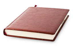 Diary cover with brown leather Royalty Free Stock Photos