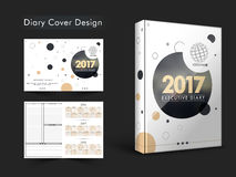 Diary Cover design for New Year 2017. Creative Diary Cover design or Personal Organizer layout for New Year 2017 Royalty Free Stock Photo