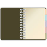 Diary first page. One diary open on first page with bookmark in white background Royalty Free Stock Images