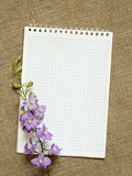 Diary and flowers Stock Images