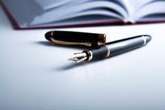 Diary with fountain pen Royalty Free Stock Photos
