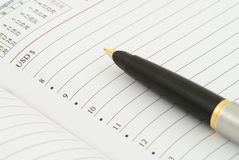 Diary and fountain pen Royalty Free Stock Images