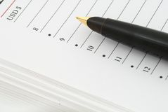 Diary and fountain pen Royalty Free Stock Photos