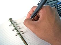 Diary Hand Stock Photos