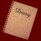 Diary illustration Stock Photo