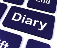 Diary Key Shows Online Planner Or Schedule Royalty Free Stock Image