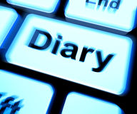Diary Keyboard Shows Online Planner Or Schedule Stock Images