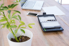 Diary with laptop and smartphone on a desk Royalty Free Stock Photography