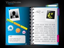 Diary-like web template royalty free illustration