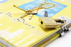 Diary with Lock and Keys stock photography
